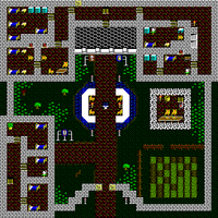 Overhead tile view of Britain's second floor in Ultima V