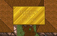 A sign in runic from Ultima VII