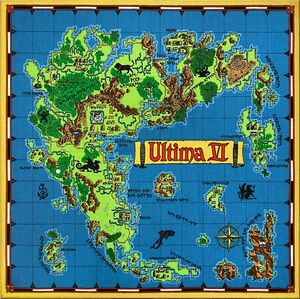 Ultima VI Map of Britannia - The Codex of Ultima Wisdom, a wiki for